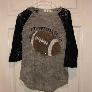 Super cute football shirt size small, boutique.
